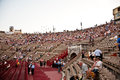 People are watching the opening verona italy august of opera in arena of verona august verona italy Royalty Free Stock Photos