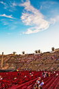People are watching the opening verona italy august of opera in arena of verona august verona italy Stock Images