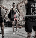 People with weights Royalty Free Stock Photo