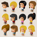 People women isometric set vector illustrator Stock Photos