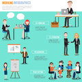 People working in the co working space infographics elements ill illustrator eps Royalty Free Stock Image