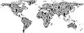 Stock Images People World Map