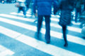People on zebra crossing Royalty Free Stock Photos