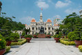 The peoples committee building in ho chi minh city vietnam january people s hochiminh with minhs statue front on Stock Photo