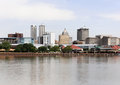Peoria a view of the skyline of illinois from across the illinois river Stock Image