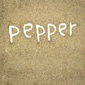 Pepper abstract texture of spice with white text Royalty Free Stock Photo