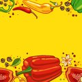Pepper background Stock Photos