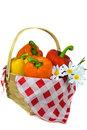 Pepper Basket Royalty Free Stock Image