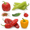 Pepper collection Stock Images