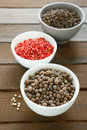 Pepper condiment mix food closeup Royalty Free Stock Image