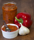 Pepper garlic relish spread Royalty Free Stock Photo