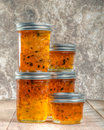 Pepper jelly homemade preserves hot from preserving Royalty Free Stock Photography