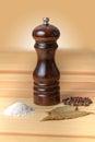 Pepper pot salt pepper wood black Stock Photo