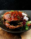 Pepper sauce crab Royalty Free Stock Photo