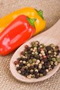 Peppercorns and Peppers / Capsicum Stock Photos