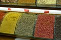 Peppercorns for sale at spicies market exhibitor with different types of photo taken the spice in istanbul Royalty Free Stock Photo