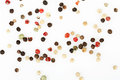 Peppercorns on white Royalty Free Stock Photo