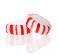 Peppermint candy red striped peppermint christmas candy macro Stock Photography