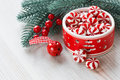 Peppermint Christmas candy Royalty Free Stock Photo