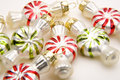 Peppermint Shaped Christmas Ornaments Royalty Free Stock Photo