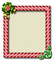 Peppermint x-mas frame Stock Images