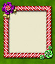 Peppermint x-mas frame Stock Photography