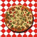Pepperoni izza illustration Royalty Free Stock Photo