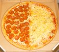 Pepperoni pizza and four cheeses - assortment