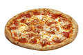 Pepperoni Pizza Isolated Royalty Free Stock Photography