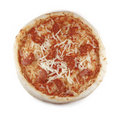 Pepperoni pizza isolated Stock Image