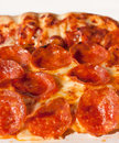 Pepperoni pizza a slice of Royalty Free Stock Photography