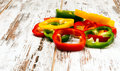 Peppers bell cut Stock Image