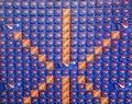 Pepsi Orange Crush Display Geometric Royalty Free Stock Photo