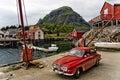 Pequeño pueblo pesquero noruego Imágenes de archivo libres de regalías