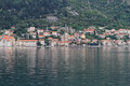 Perast cityscape kotor bay montenegro Stock Photos