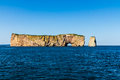 Perce rock saint lawrence river gaspesie quebec canada Royalty Free Stock Images