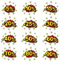 Percent comic labels vector illustration of some Royalty Free Stock Image