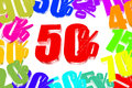 Percent discount on three dimensional Royalty Free Stock Image