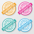 Percent guarantee paper labels colorful eps file Stock Images