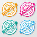 Percent guarantee paper labels colorful german text garantie translate eps file Royalty Free Stock Photos