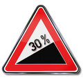 Percent increase in the mountains Stock Photo