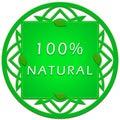 100 percent natural label