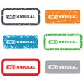 Percent natural sign organic food symbol retro stamps and badges Stock Image