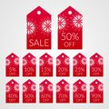 5 10 15 20 25 30 40 50 60 70 80 90 percent off shopping tag vector labels. Discount symbols for sale Royalty Free Stock Photo