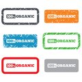 Percent organic sign natural food symbol icon retro stamps and badges Royalty Free Stock Photo