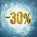 30 Percent Sign Royalty Free Stock Photo