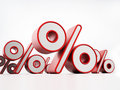 Percentage signs isolated on white background Stock Photo