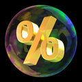 Percentage symbol soap bubble as sale concept Royalty Free Stock Images