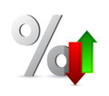 Percentages up and down illustration design over white Royalty Free Stock Photo