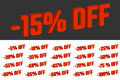 Percents of discount. Set of vector illustrations. 3D image